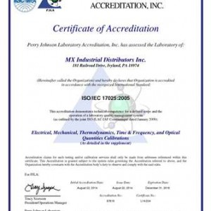 MX Industrial ISO17025 Certificate_Page_1